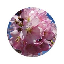 Pink Cherry Blossoms Round Ornament