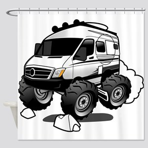 Off Road Rving Shower Curtain