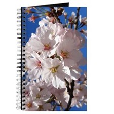 White Cherry Blossoms Journal