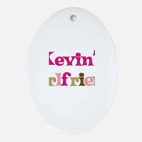 Kevin's Girlfriend Oval Ornament