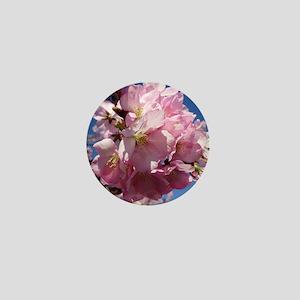 Pink Cherry Blossoms Mini Button