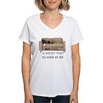short walk #1 Women's V-Neck T-Shirt