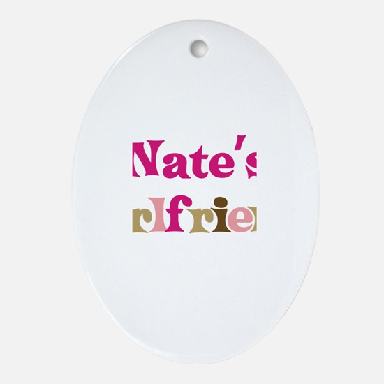 Nate's Girlfriend Oval Ornament