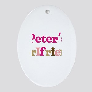Peter's Girlfriend Oval Ornament