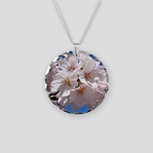 White Cherry Blossoms Necklace
