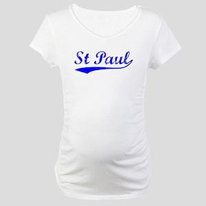 Vintage St Paul (Blue) Maternity T-Shirt