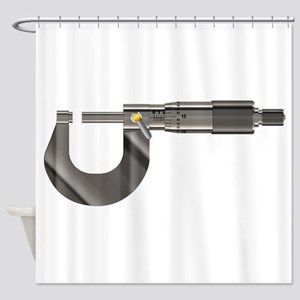Precision Instrument Micrometer Shower Curtain