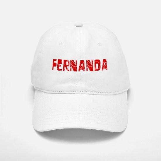 Fernanda Faded (Red) Baseball Baseball Cap