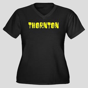 Thornton Faded (Gold) Women's Plus Size V-Neck Dar