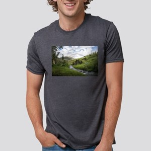 Hillside Pasture with Babbling Brook T-Shirt