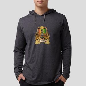 Vintage Rastafari Crest Design Long Sleeve T-Shirt