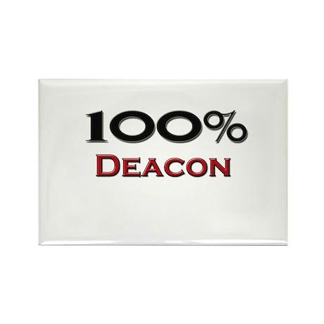 100 Percent Deacon Rectangle Magnet