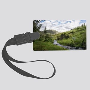 Hillside Pasture with Babbling B Large Luggage Tag