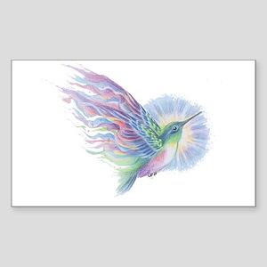 Hummingbird Art Sticker