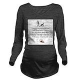 Great dane Dark Long Sleeve Maternity T-Shirt