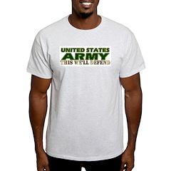 United States Army Ash Grey T-Shirt