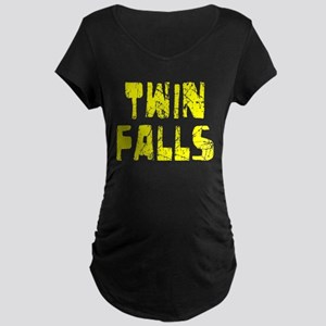 Twin Falls Faded (Gold) Maternity Dark T-Shirt