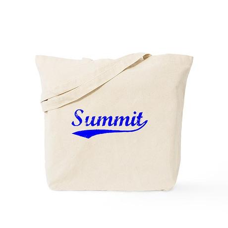Vintage Summit (Blue) Tote Bag