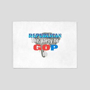 Republican party 5'x7'Area Rug