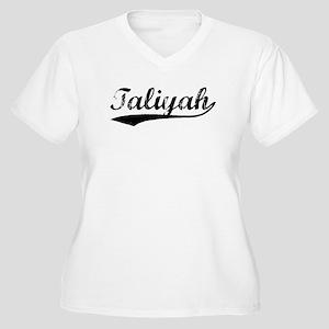 Vintage Taliyah (Black) Women's Plus Size V-Neck T