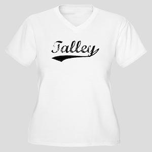 Vintage Talley (Black) Women's Plus Size V-Neck T-