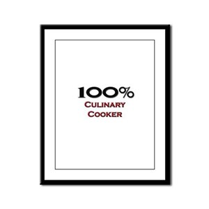 100 Percent Culinary Cooker Framed Panel Print