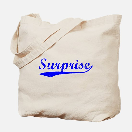 Vintage Surprise (Blue) Tote Bag