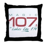 Smooth Magic 107 Throw Pillow