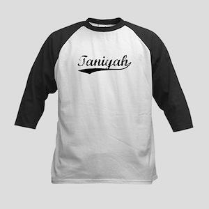 Vintage Taniyah (Black) Kids Baseball Jersey