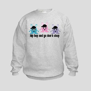 Hip Hop Bunnies Kids Sweatshirt