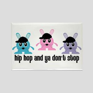 Hip Hop Bunnies Rectangle Magnet