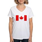 Canadian Flag Women's V-Neck T-Shirt