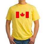 Canadian Flag Yellow T-Shirt