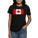 Canadian Flag Women's Dark T-Shirt