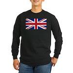 UK Flag Long Sleeve Dark T-Shirt