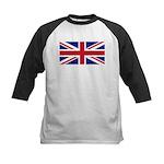 UK Flag Kids Baseball Jersey