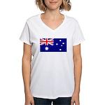 Aussie Flag Women's V-Neck T-Shirt