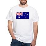 Aussie Flag White T-Shirt