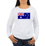 Aussie Flag Women's Long Sleeve T-Shirt