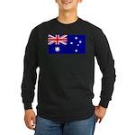 Aussie Flag Long Sleeve Dark T-Shirt
