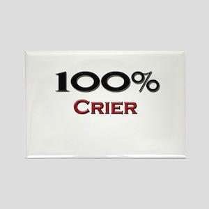 100 Percent Crier Rectangle Magnet