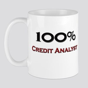 100 Percent Credit Analyst Mug