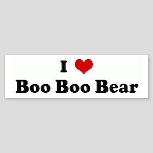 I Love Boo Boo Bear Bumper Sticker
