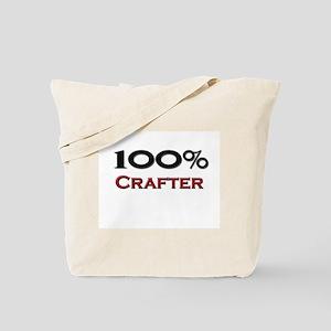 100 Percent Crafter Tote Bag
