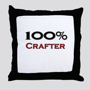 100 Percent Crafter Throw Pillow