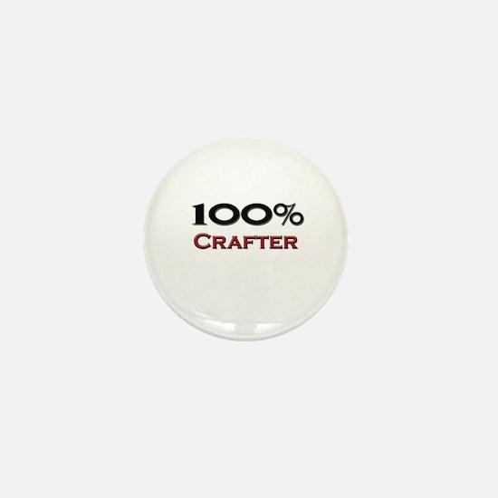 100 Percent Crafter Mini Button