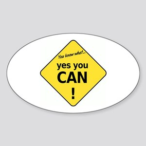 yes you can Oval Sticker