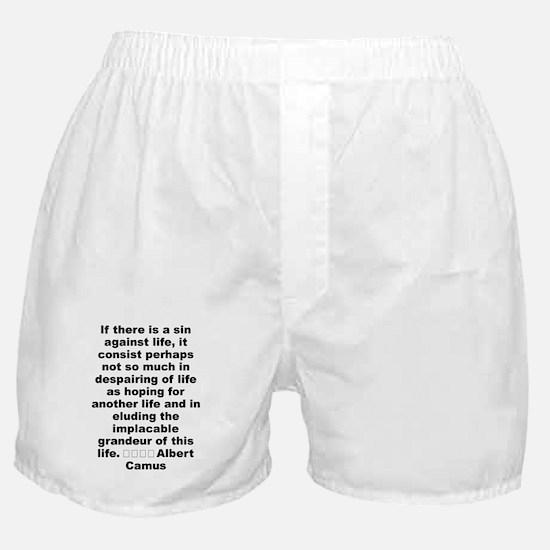 Cute Camus quotation Boxer Shorts