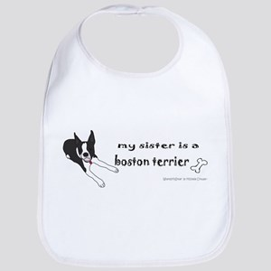 boston terrier Baby Bib