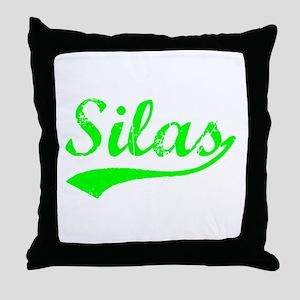 Vintage Silas (Green) Throw Pillow